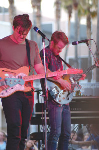 Cold War Kids frontman Nathan Willett and guitar player Jonnie Russell let loose during their headlining gig at Music in the Park.