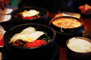 SJ OMOGARI'S FINEST  Beef bibimbaps and a mild seafood tofu soup, Tuesday May 21.