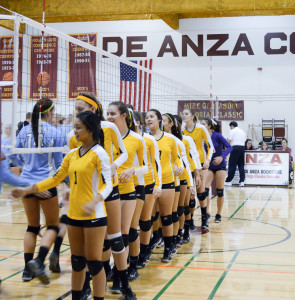 De Anza falls to Cabrillo in 3-set loss