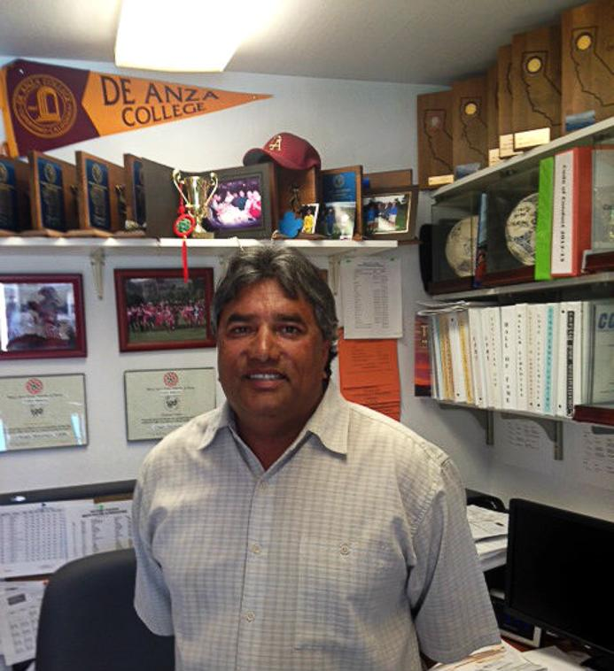 Athletics Director Kulwant Singh talks about his accomplishments in his office Wednesday, Oct 2.