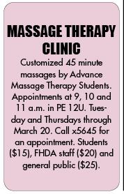 $15 on-campus massage rocks