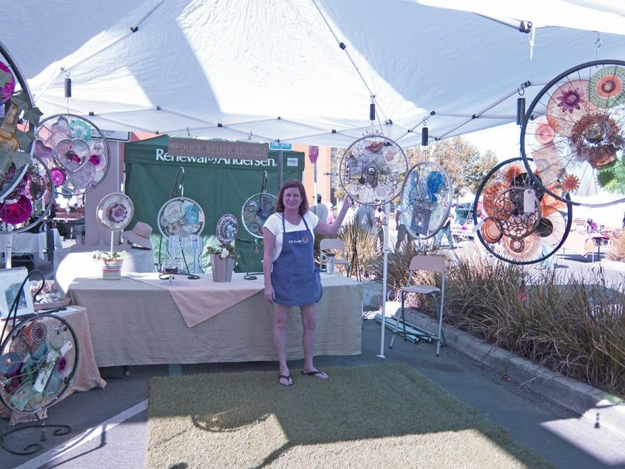 DK+Design+owner+Kelly+Limbaugh+shows+off+her+myriad+of+creative+and+custom-made+dreamcatchers.