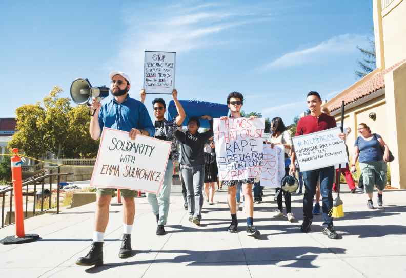 De Anza students march against college sexual assault