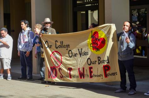 CCSF, De Anza protesters want local trustees restored