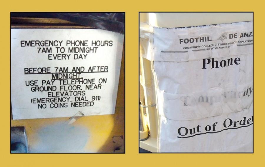 Emergency phones down