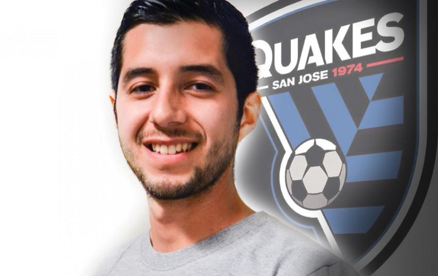 SJ Earthquakes Player Balances Ball and Books
