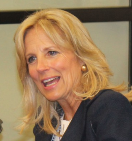 Second Lady arrives: Jill Biden visits De Anza