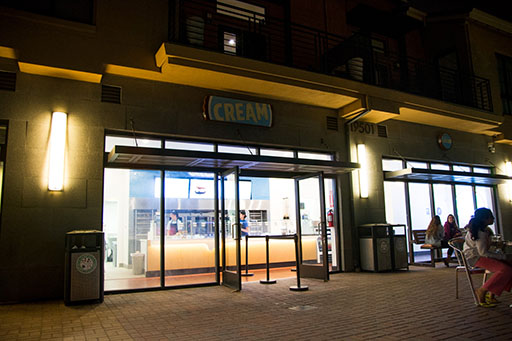 CREAM's new storefront in Cupertino is just a five-minute drive from De Anza at 19501 Stevens Creek blvd, next to Cafe Lattea.