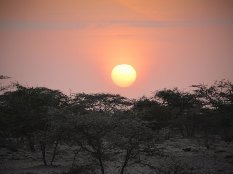 Sunrise from the camp of Nengo's team