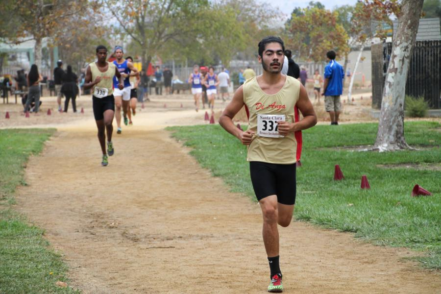 Freshman Abel Padilla runs in the open 8,000-meter race for the De Anza men's cross country team, which is currently No. 8 in Northern California.