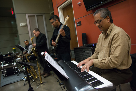 """""""Abraham and the band"""" play jazz during the reception on Nov. 10."""