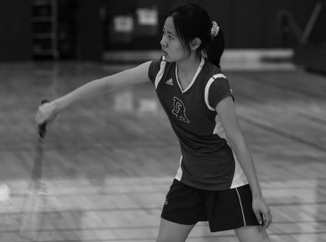 Badminton star backhands competition