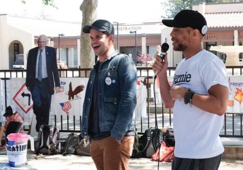 TV celebrities urge De Anza students: Register to vote!