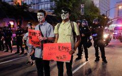 San José police, protesters clash at Trump rally