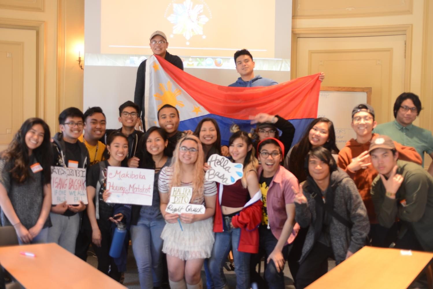 PUSO members proudly represent the Philippines, celebrating a successful first meeting of the Spring quarter