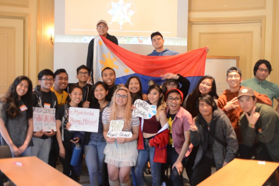 PUSO members proudly represent the Philippines, celebrating a successful first meeting of the Spring quarter.