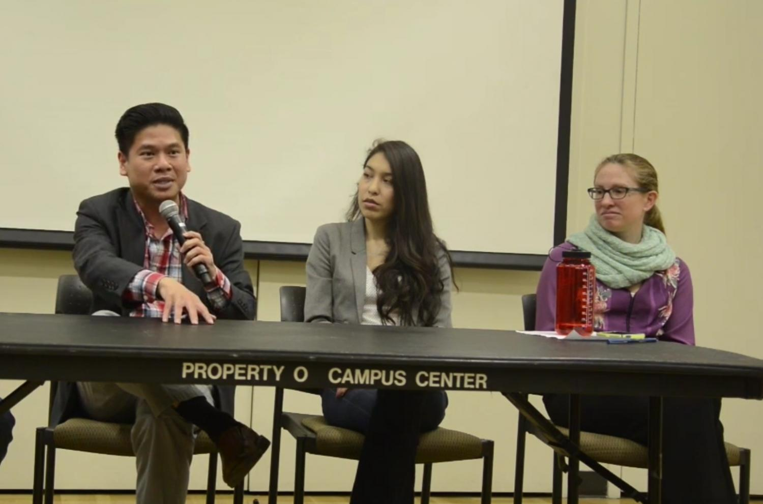 Panel organized by De Anza Renters Rights Campaign, featuring Councilman Lan Diep.