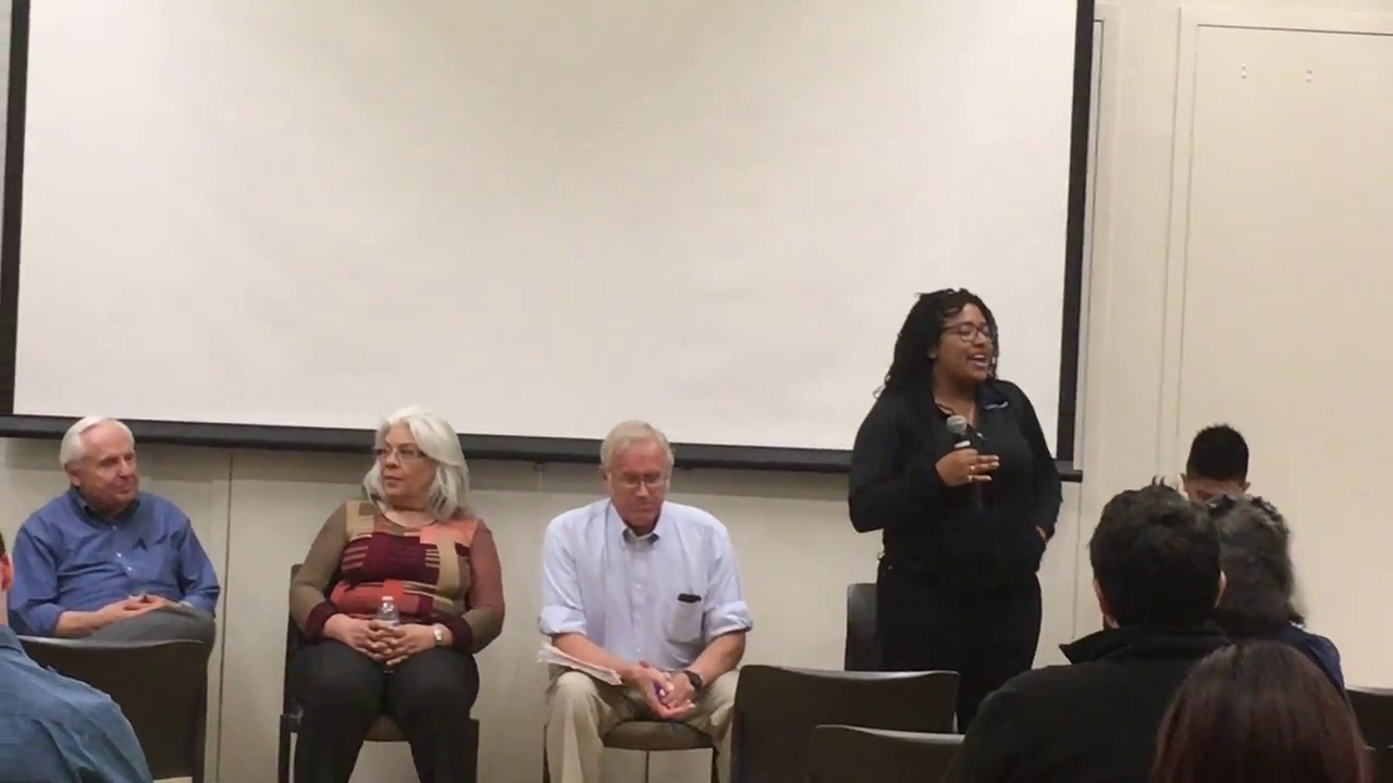 Viana Roland speaks about her experience being homeless.