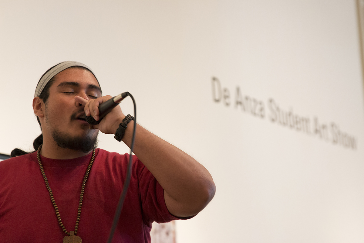 """4 Elements Hip Hop allows students to express their art at the Open Mic in the Euphrat every first Thursday of the month. """"You don't have to be a top show artist to share anything with the crowd,"""" Ray Molano, 24, social behavioral sciences major said."""