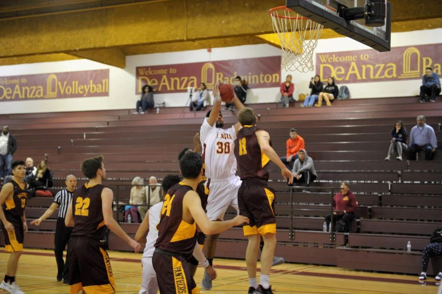 Ajay Singh, #30, goes up for a shot against Hartnell's defense on Wednesday, Jan. 17.