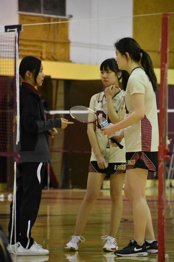 Badminton scrimmages in advance of upcoming season
