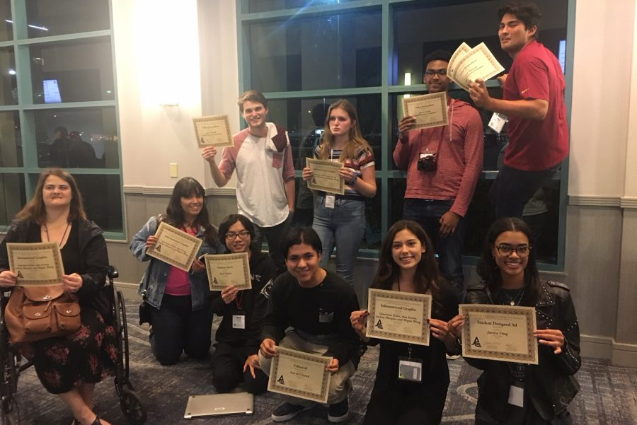 La Voz News staff members celebrate at journalism conference March 24.