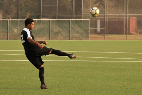 Fernando Biorato, defender, passing time after finding out they won't play the Nov. 9 game against Monterey Peninsula.