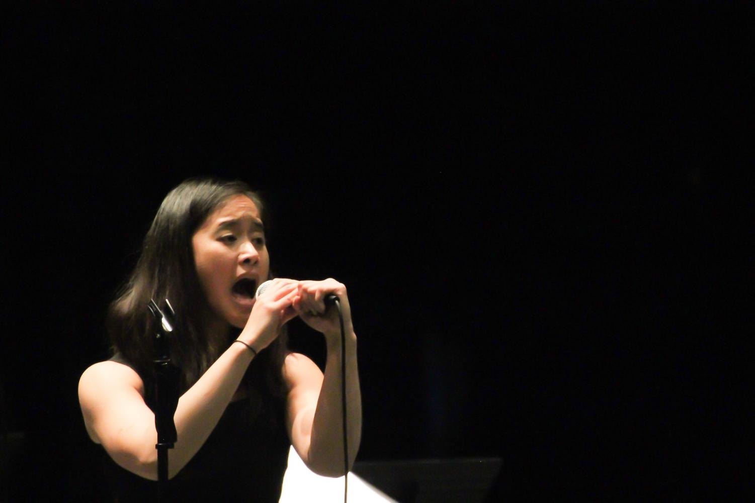 +Carolyn+Tran-Math%2C+vocalist+for+the+De+Anza+College+Jazz+Combo+band%2C+delivers+a+soulfully+high+register+vocal+rendition+of+%22Have+Yourself+a+Merry+Little+Christmas%2C%22+by+Hugh+Martin+at+An+Evening+of+Jazz+at+the+VPAC+center+on+Dec.+3.