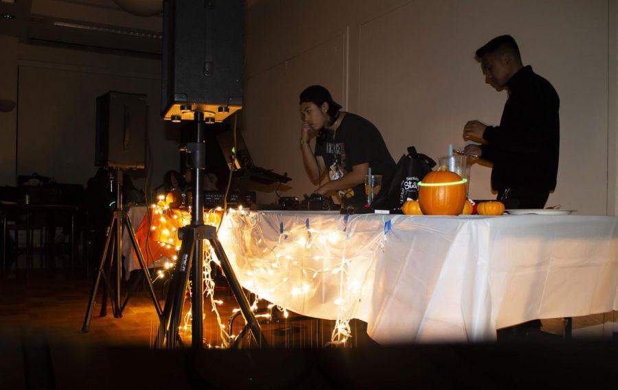 Soundsbyken DJs during the Fall Mixer on Nov. 27 at De Anza college.