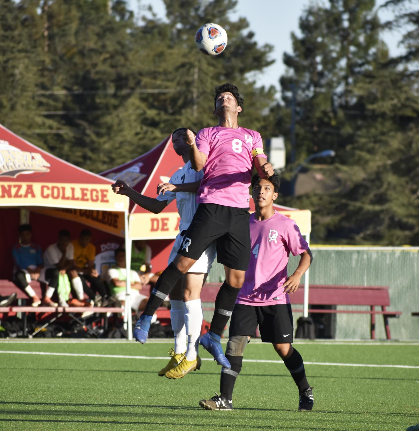 Captain Brian Alvarez, fights for the head during the game on Nov. 10.