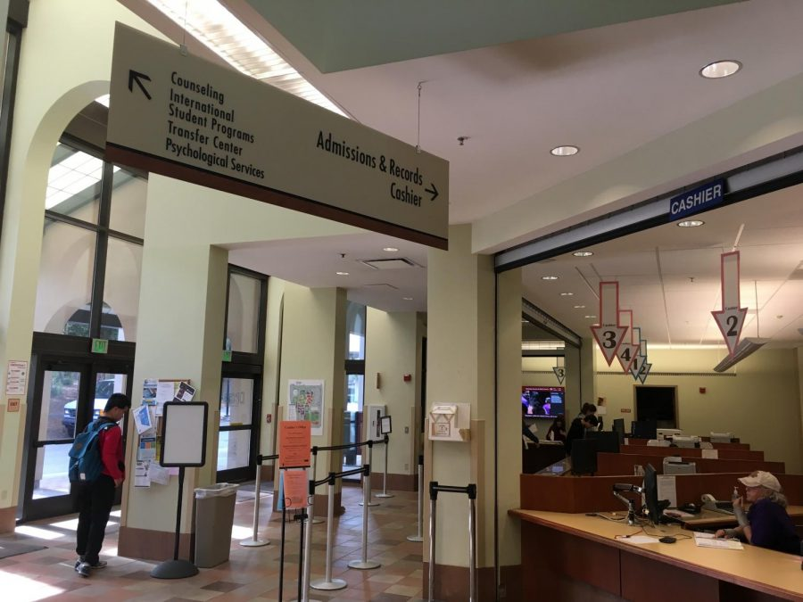 Inside Registration and Student Services Building