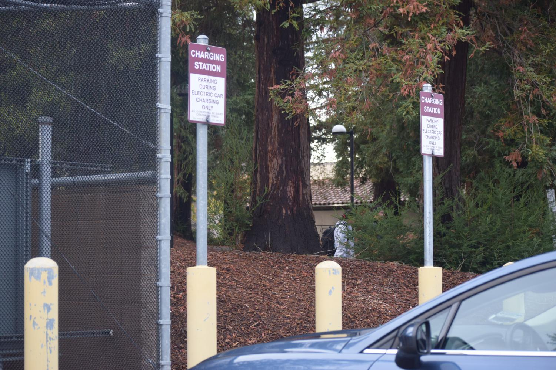 EV Charging Stations at Parking Lot B