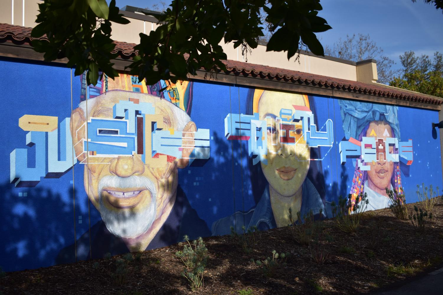 Justice, Equity Peace mural S-Quad
