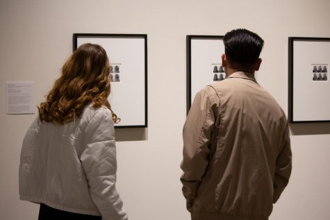Couple looks at the artwork in ICA's extended hours: Art after Dark