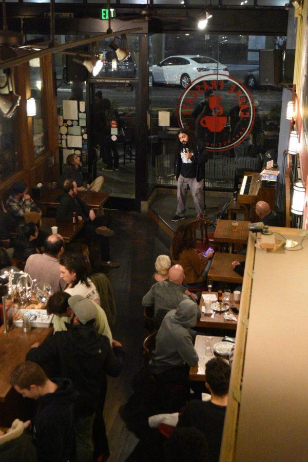 Comedian+%22Mean+Dave%22+preforming+at+Caffe+Frascati