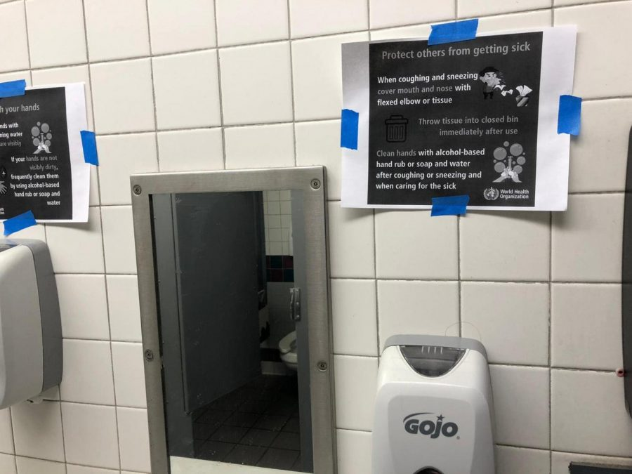 Hand wash warning poster from L5 restrooms