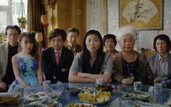 Jian Yongbo, Kmamura Aio, Chen Han, Tzi Ma, Awkwafina, Li Ziang, Tzi Ma, Lu Hong and Zhao Shuzhen appear in a still from
