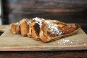 French Toast, plated and ready to eat.