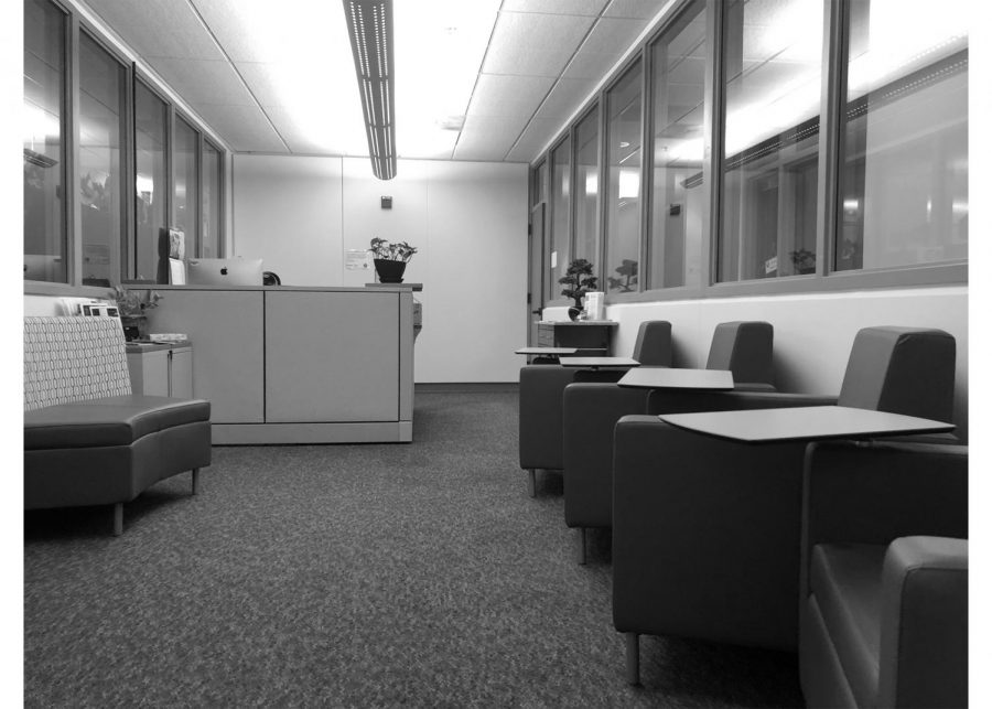 Psychological Service lobby and waiting area for students.