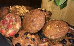 Banana bread muffins, baked and ready to eat.