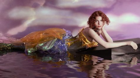 "SOPHIE on her album cover ""OIL OF EVERY PEARL"