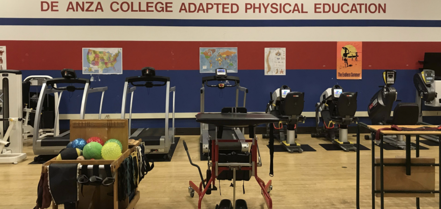 On-campus exercise facility for De Anza College's adapted physical education department.