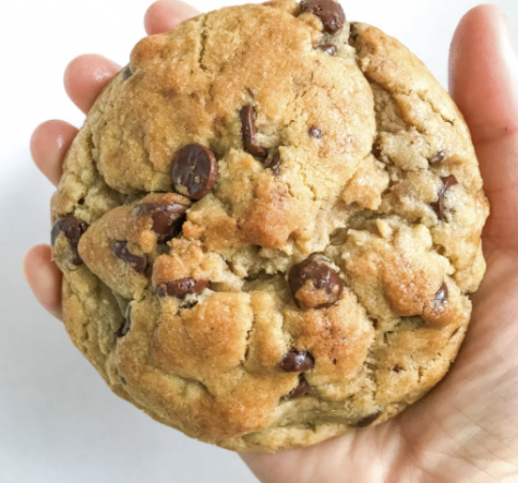 "A chocolate ""pudge"" cookie with brown butter and chocolate chips"