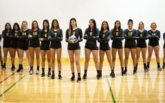 Photo of De Anza women's volleyball team, courtesy of De Anza College Athletics