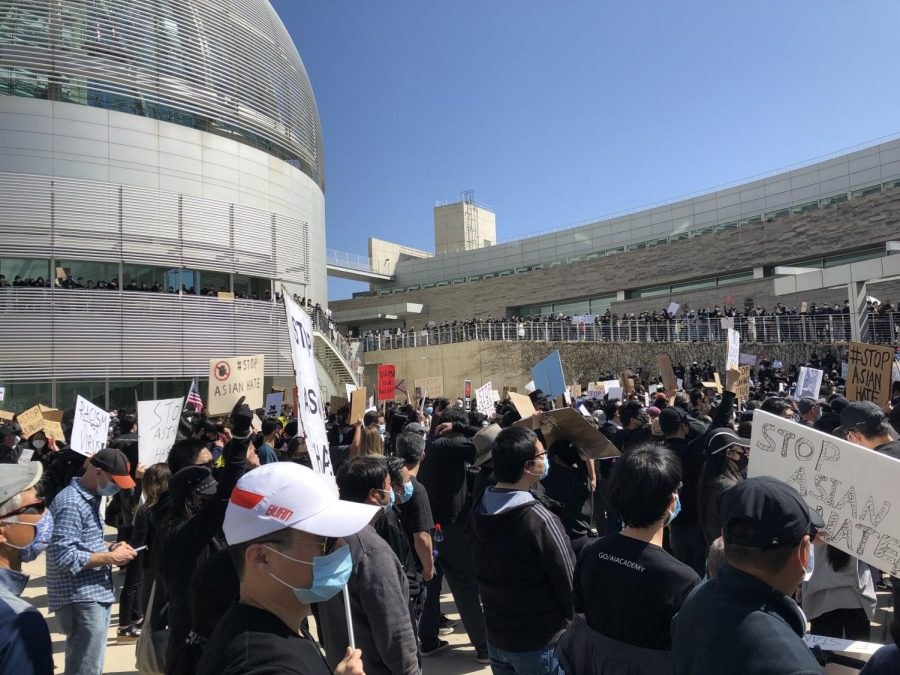 A major Stop Asian Hate rally in San Jose, March 2021.