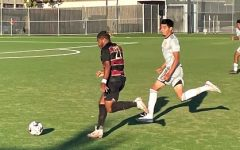 Rayshawn Greer forward blowing past the Hartnell defender in the 1-0 game.